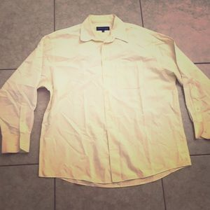 Other - Kenneth Cole Mens Light Yellow Long Sleeve Polo